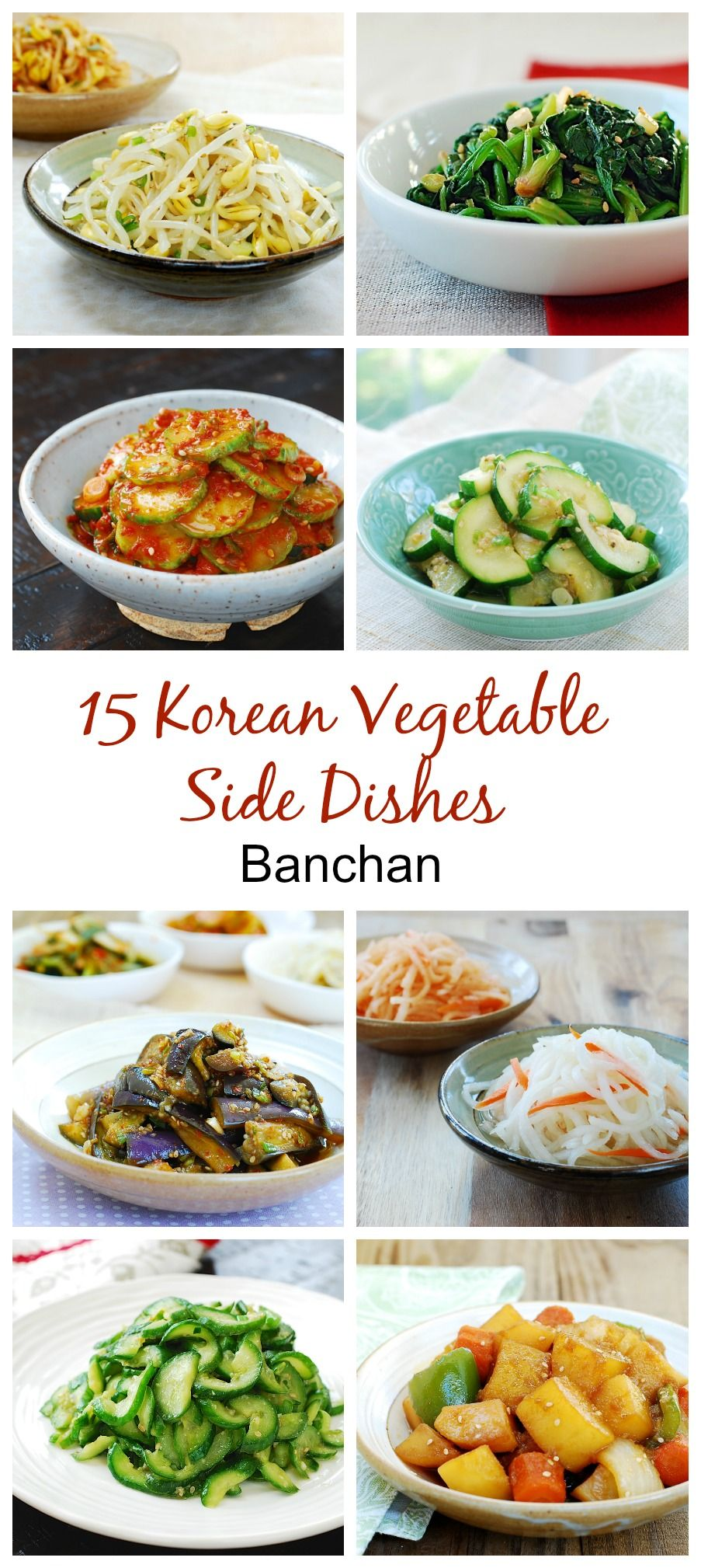 15 Korean Vegetable Side Dishes Korean Vegetables Vegetable