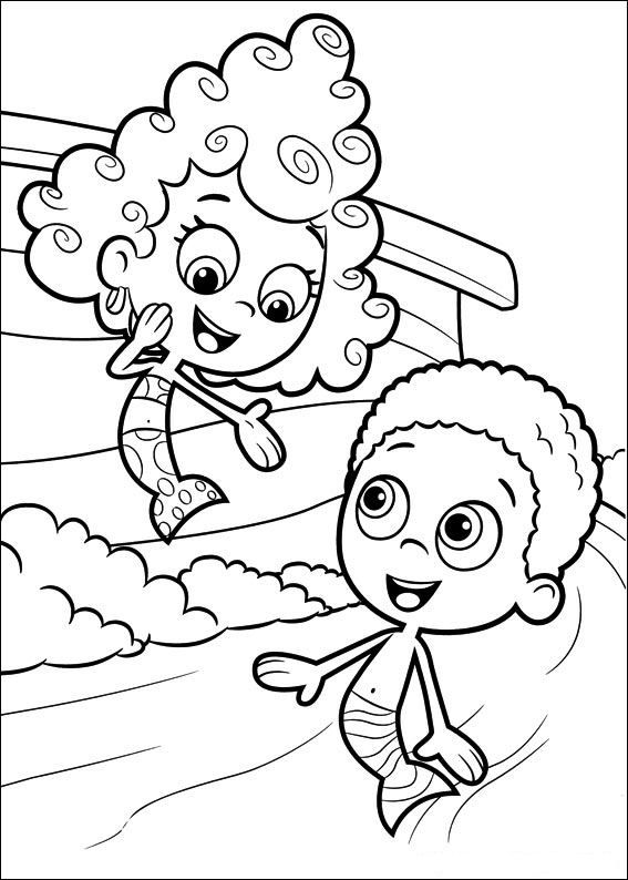 Coloring Page Bubble Guppies Bubble Guppies I Know Someone Who Guppies Coloring Page