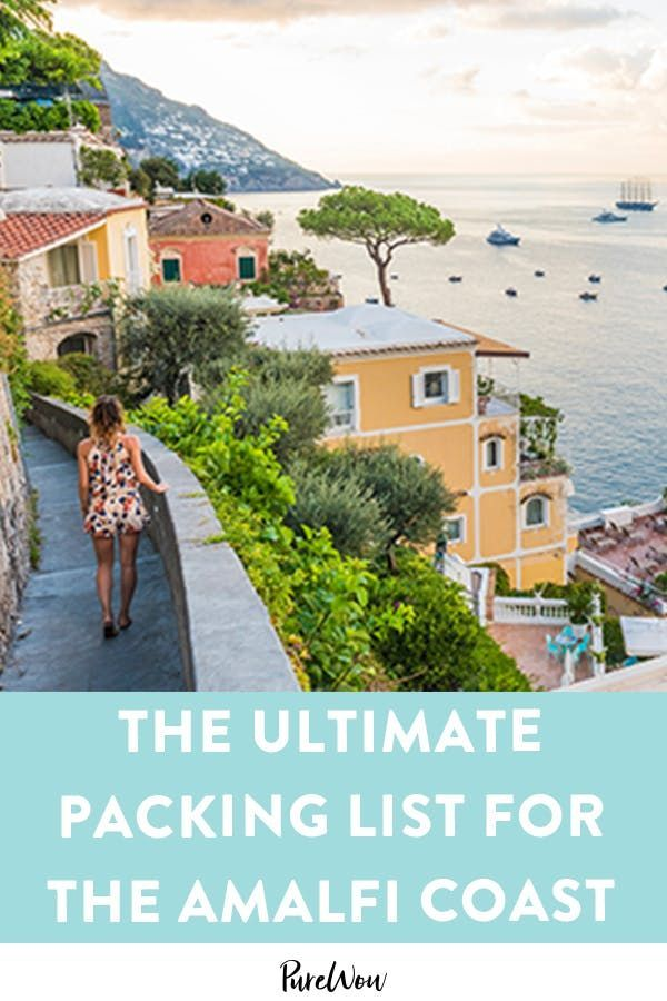 Headed to the Amalfi Coast? Here's the Ultimate Packing List #ultimatepackinglist Headed to the Amalfi Coast? Here's the Ultimate Packing List #purewow #travel #fashion #style #shopping #ultimatepackinglist