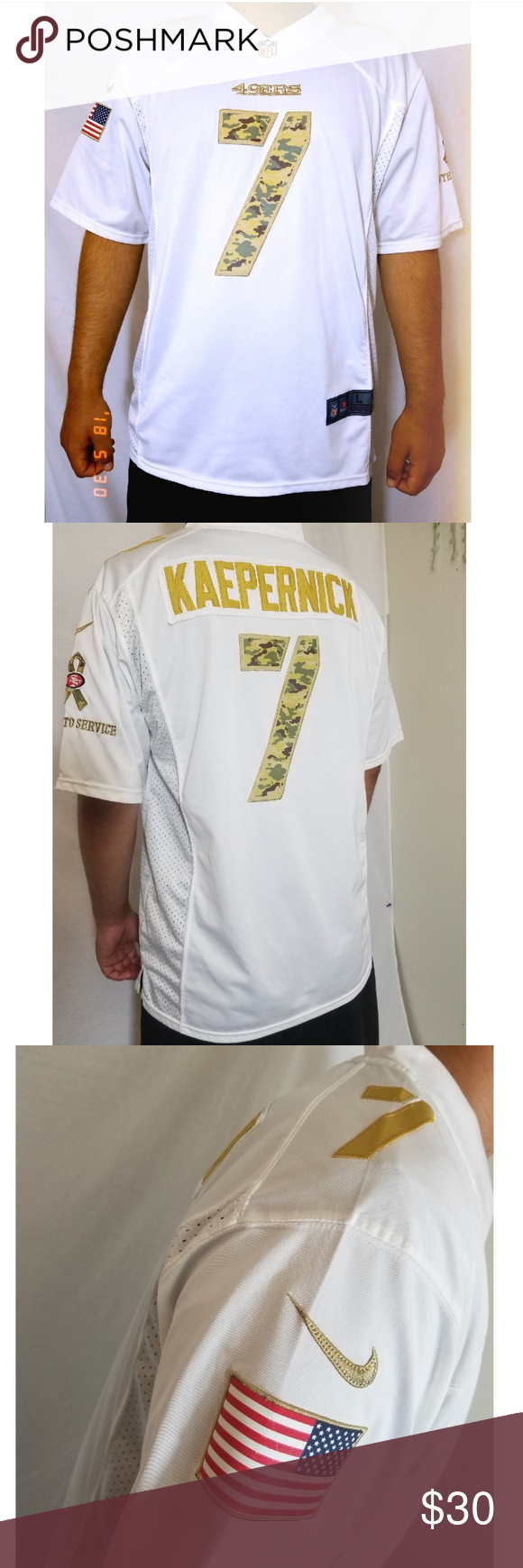 15e5c82a5 Colin Kaepernick Jersey Authentic men s San Francisco 49ers Colin Kaepernick  Nike white Salute to Service Jersey. In excellent condition. Very light  wear.