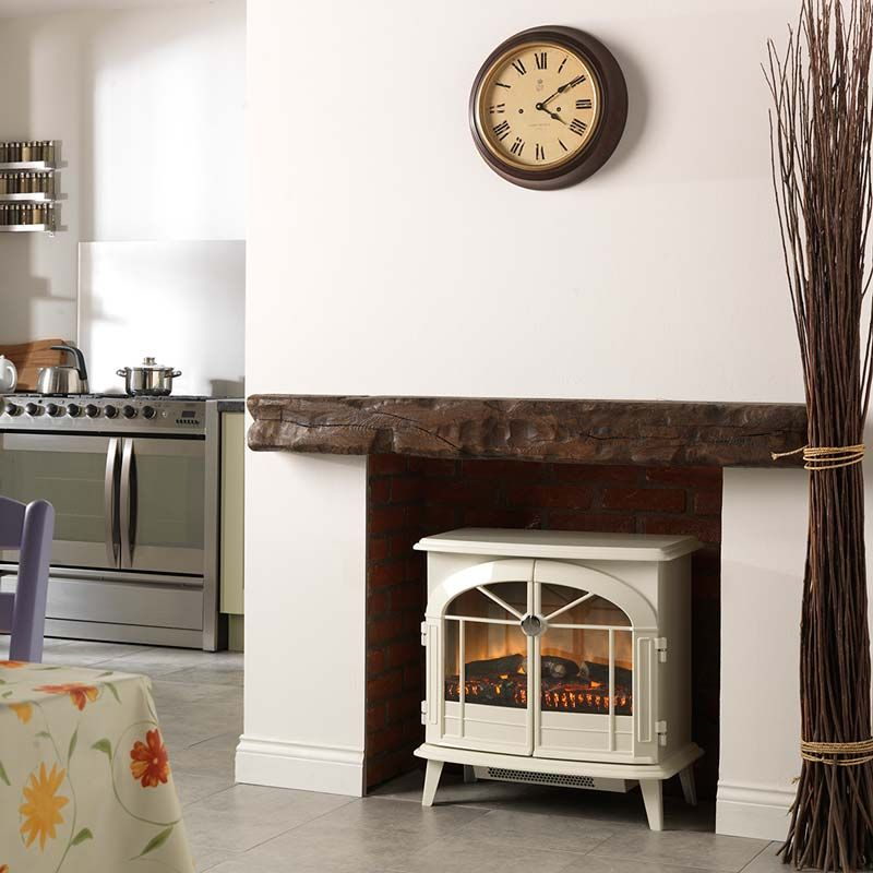 Electric Flame Fires Uk Part - 43: Dimplex Chevalier Electric Flame Effect Stove With Optiflame In Cream, 2kW    Costco UK -