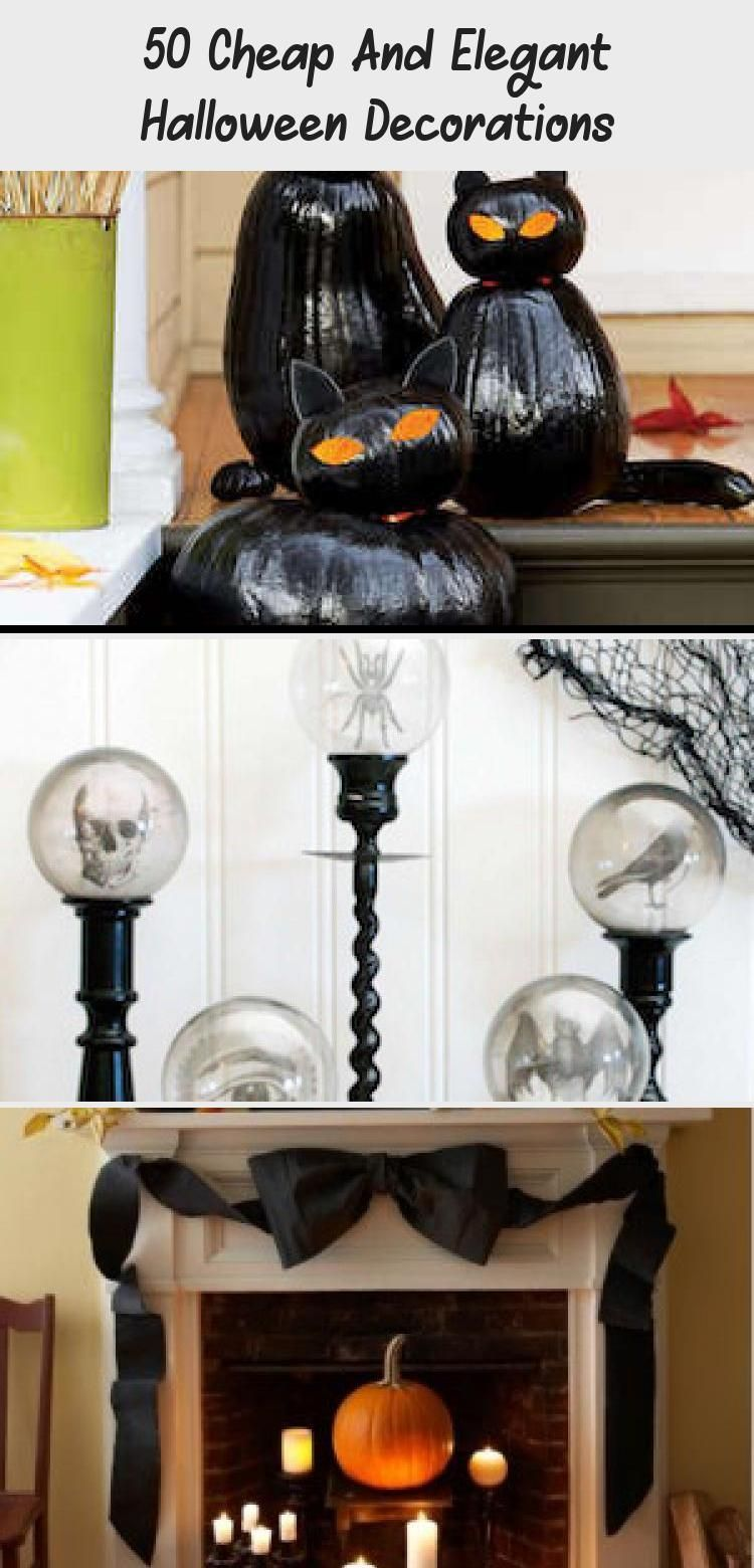 50 Cheap And Elegant Halloween Decorations #eleganthalloweendecor 50 DIY Cheap and Elegant Halloween Decorations #halloween #halloweendecorations #halloweendecor #diy #fall #halloweendiy #diydecorPillows #diydecorProjects #diydecorDesk #Springdiydecor #Cutediydecor #eleganthalloweendecor