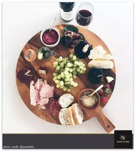 A well put together cheese board