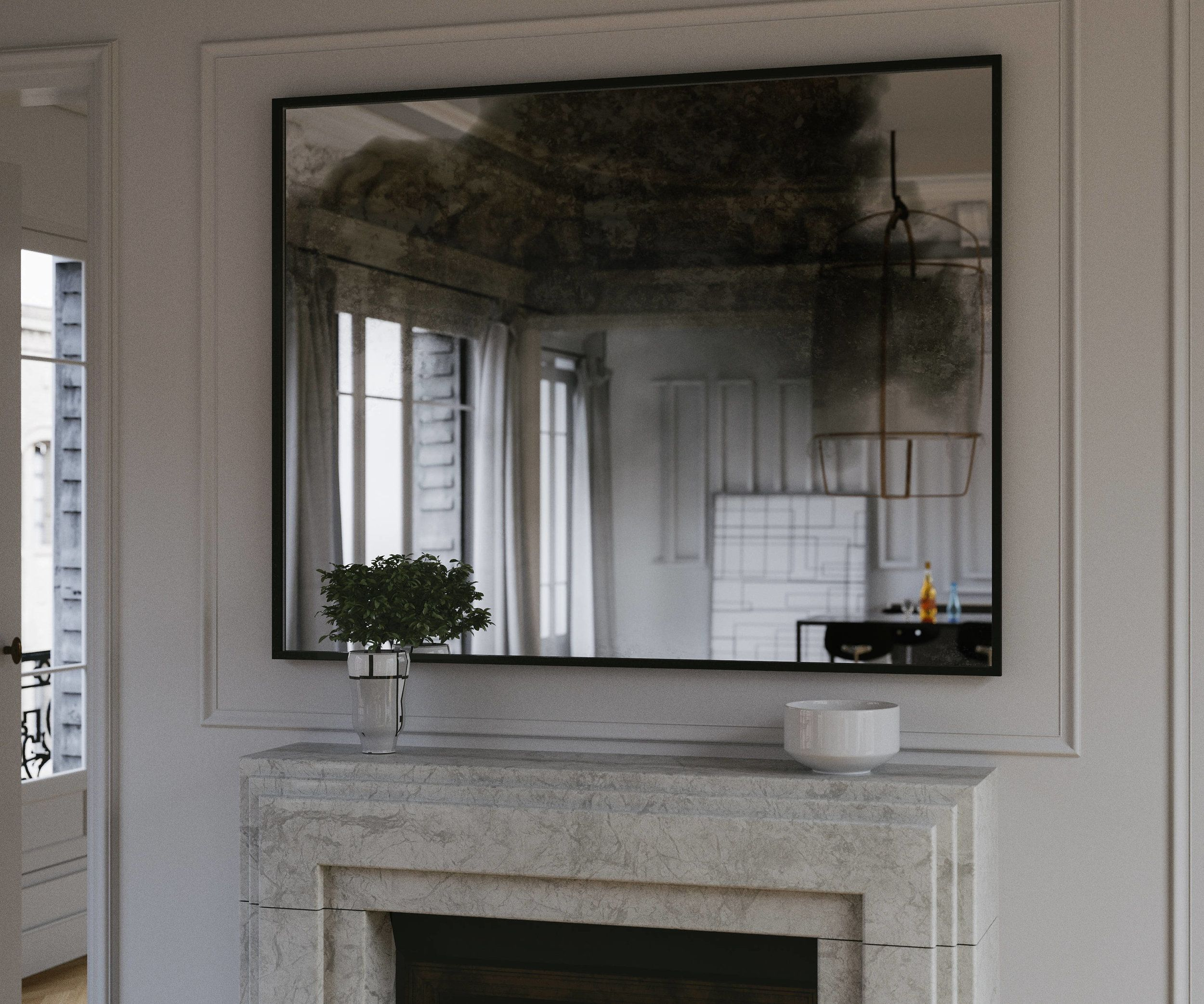 Black Smoked Mirror By Mirrorcoop Lighted Wall Mirror Mirror