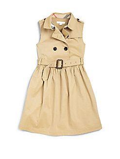 3fd7c9a2d Burberry - Girl's Trench Dress | Just For Kids | Moda infantil ...