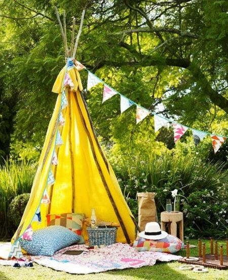 Or Opt For A More Basic Outdoor Structure Using Tree Branches Or Dowels And  Some Colourful