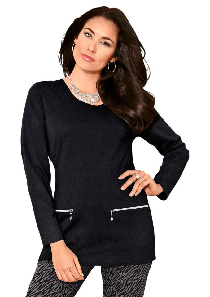 Classic Basics Longshirt In Hautfreundlicher Qualität Schwarz