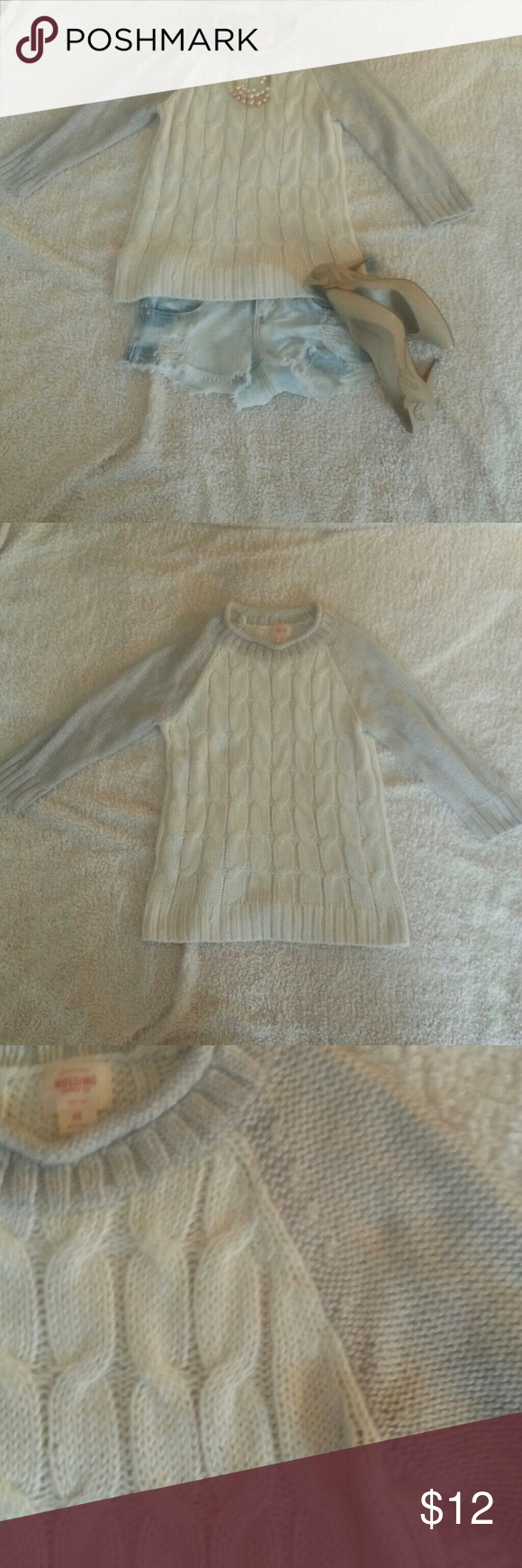 *2 for 10.00* Mossimo Cableknit Sweater Part of 2 for 10.00 sale. Choose two of any 2 for 10 items and pay just 10.00!  Great condition  *SALE PRICE IS FIRM* Mossimo Supply Co Sweaters