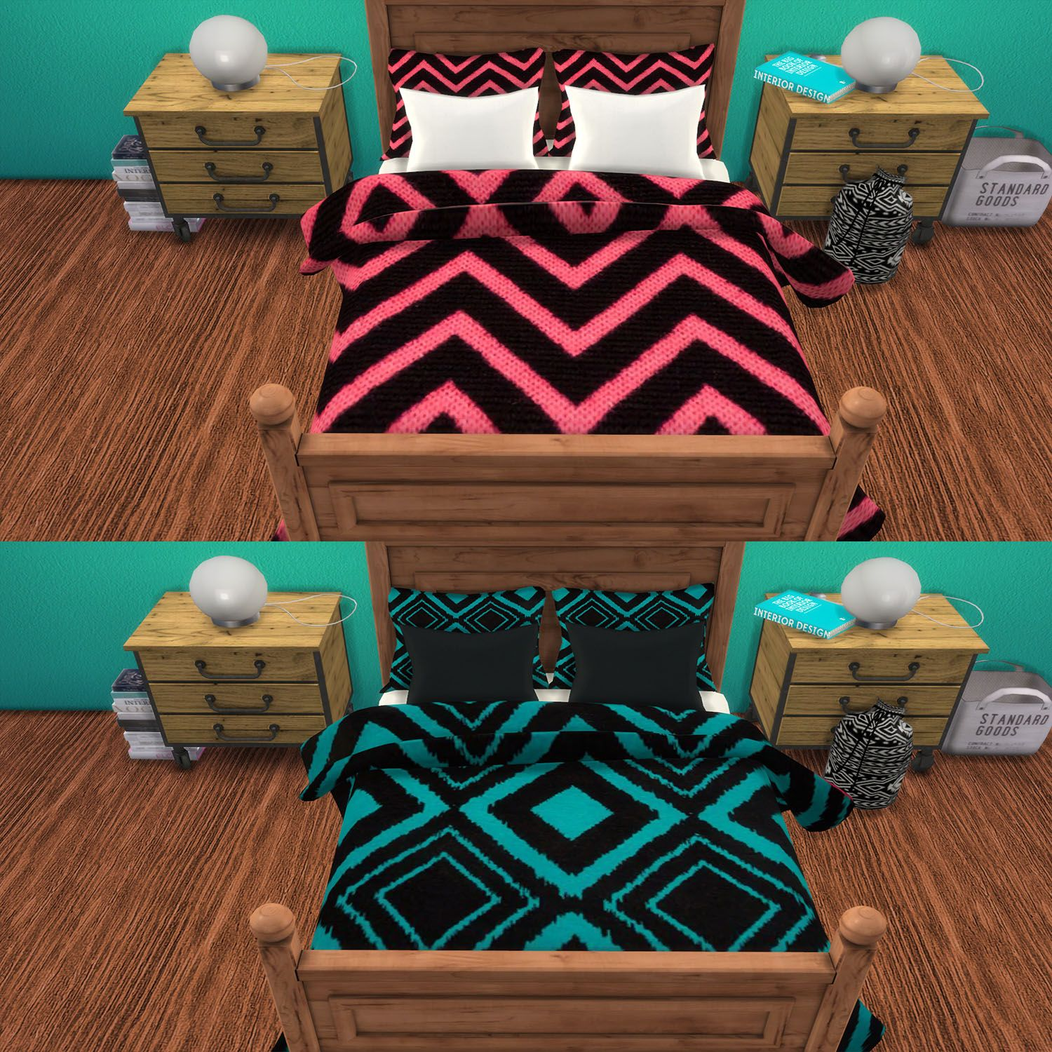 Sims 4 CC's The Best Blankets & Pillows by CC For Sims