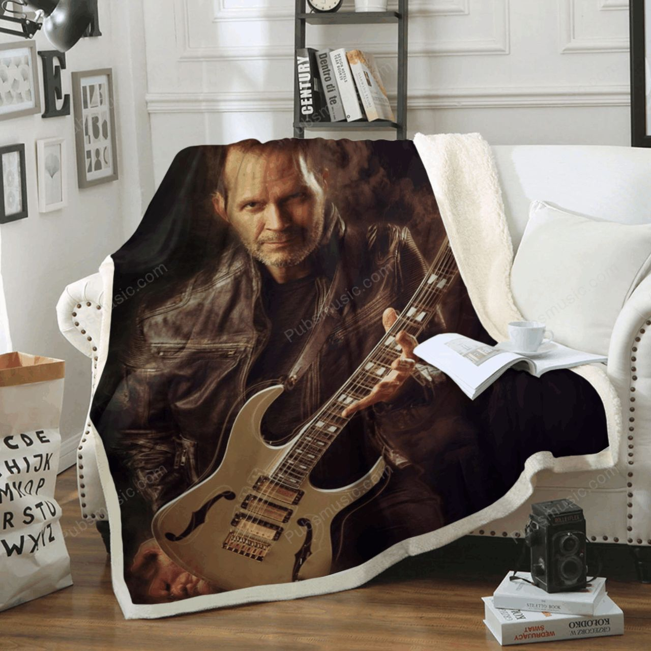 Paul Gilbert Music Art For Fans Sherpa Fleece Blanket