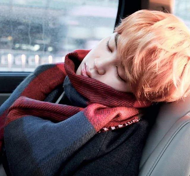 Jimin] I sit in a taxi slightly sleeping and open my eyes when the