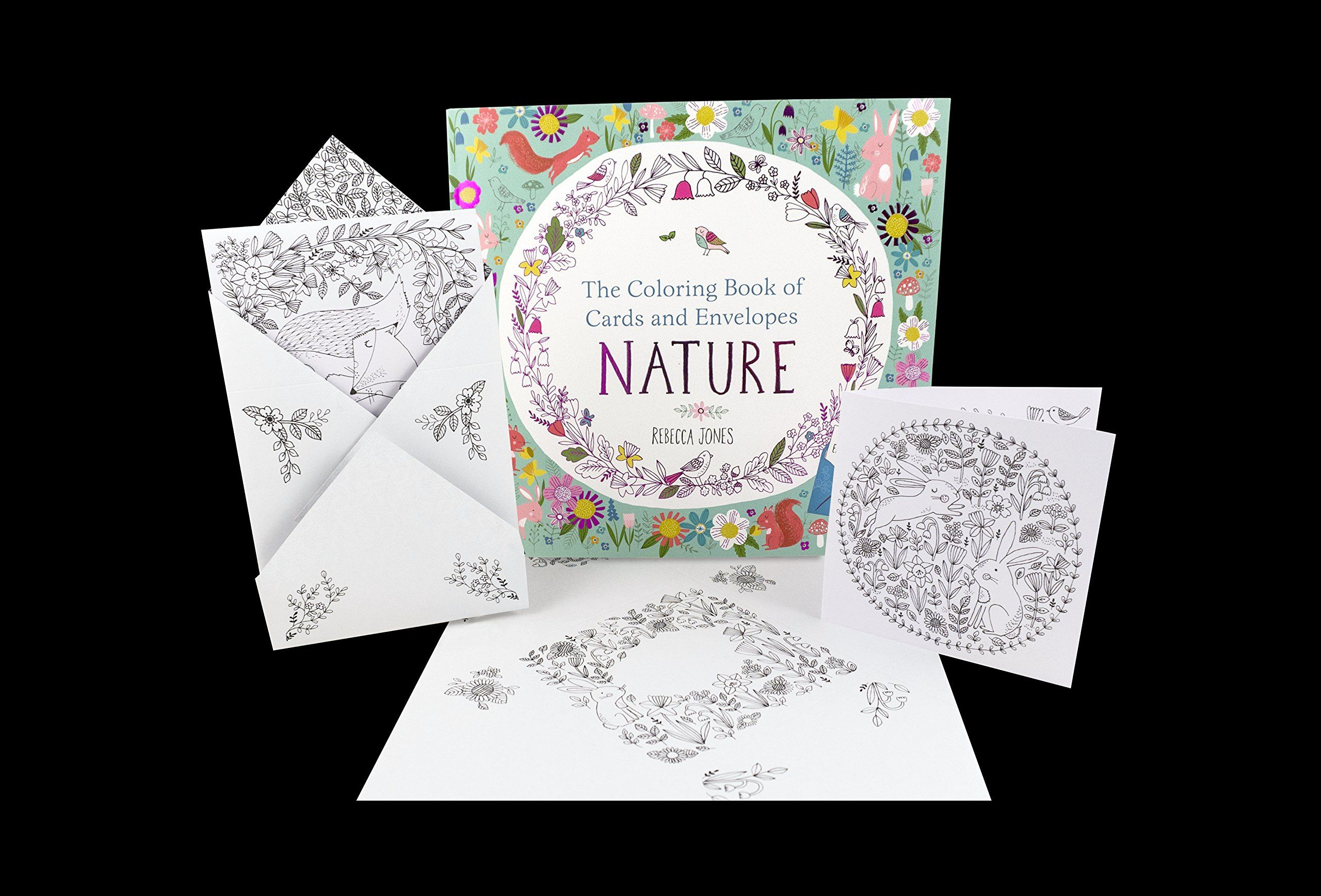 The Coloring Book Of Cards And Envelopes Nature Nosy Crow Rebecca Jones 9780763692452 Amazon Com Books Cards Envelopes Coloring Books Cards