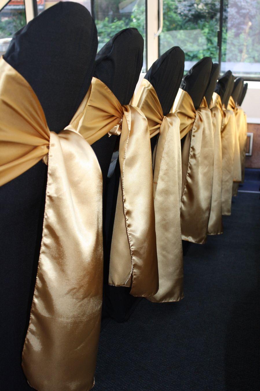 20 creative diy wedding chair ideas with satin sash gold