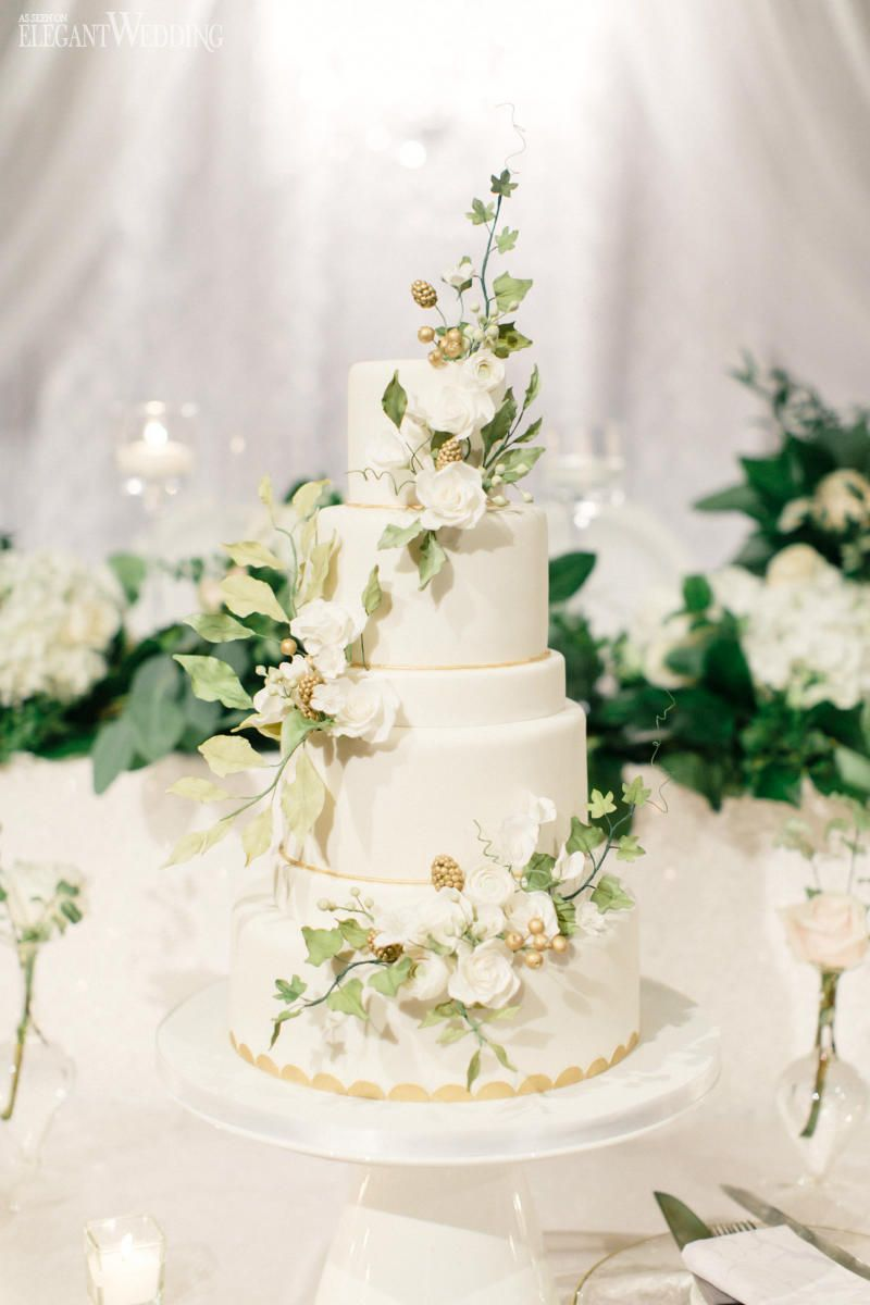 Greenery Vines Wedding Cake | Baby shower gender neutral | Pinterest ...