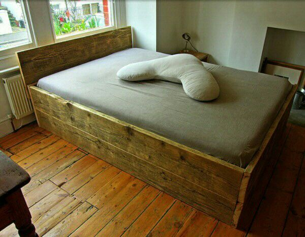 Scaffold Board Bed Wooden Double Bed How To Make Bed Diy Bed Frame