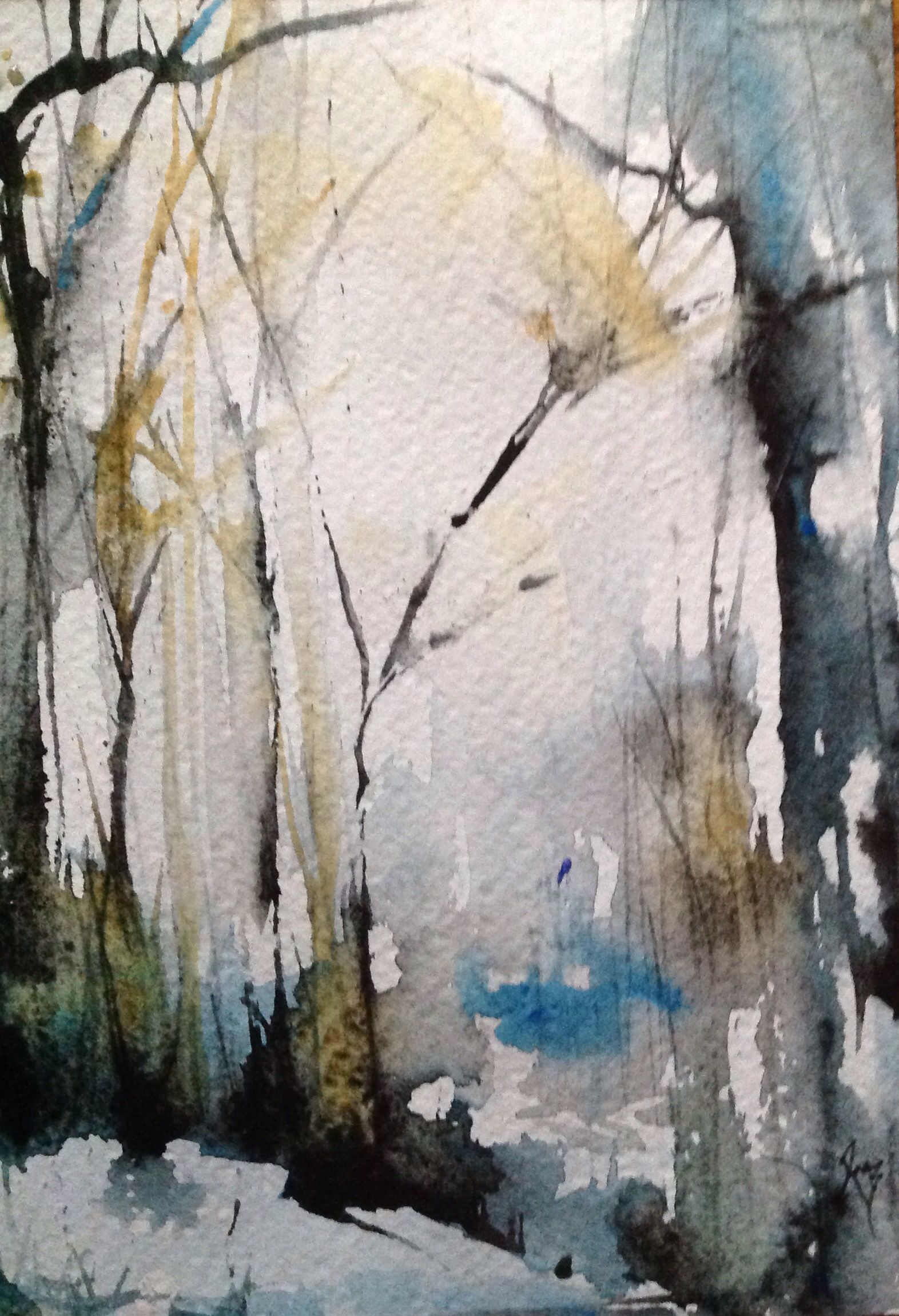 First snow facebook robin miller bookhout creative fine for My first watercolor painting