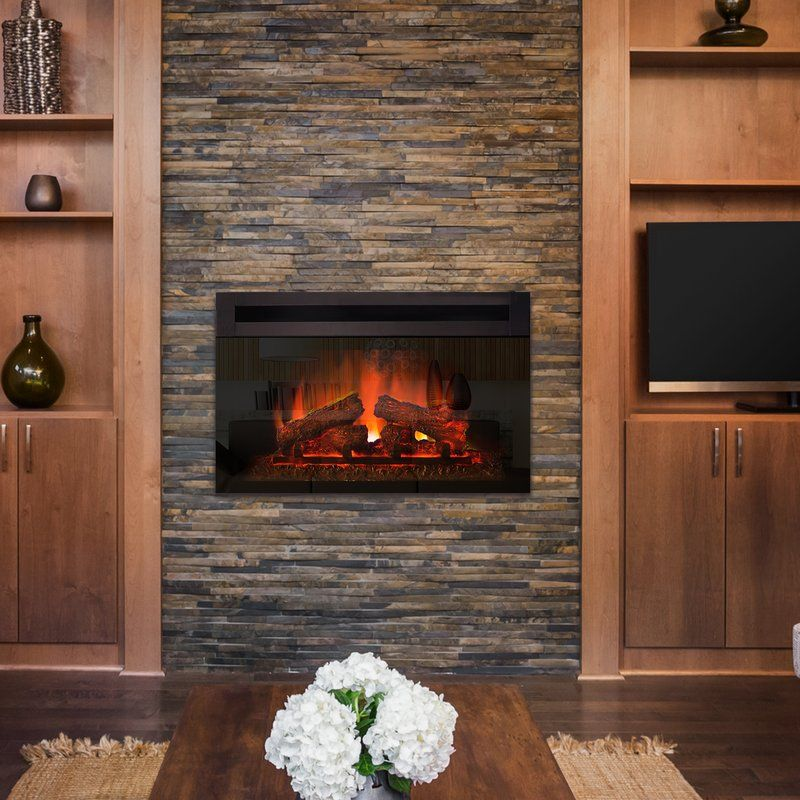 Kingsley Custom Designer Recessed Electric Fireplace Insert