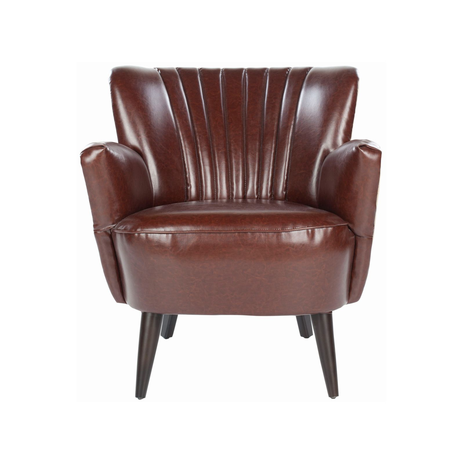 Leatherette Clamshell Chair | This Comfy Chair Hugs You Like A Pearl In A  Clamshell.