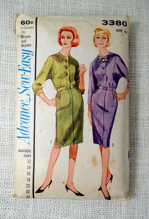 Vintage Pattern Advance 3380 dress sewing by momandpopcultureshop ...