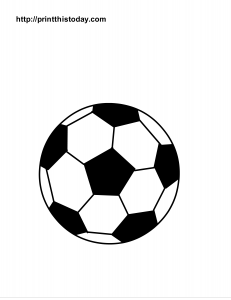 Soccer Ball Coloring Page My class Soccer ball, Soccer