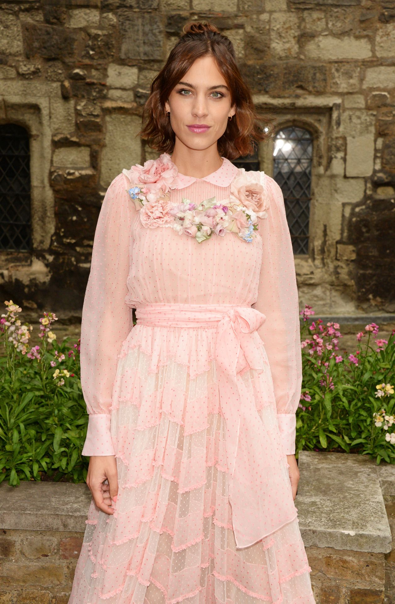 Alexa Chung attends the Gucci Cruise 2017 fashion show at the ...