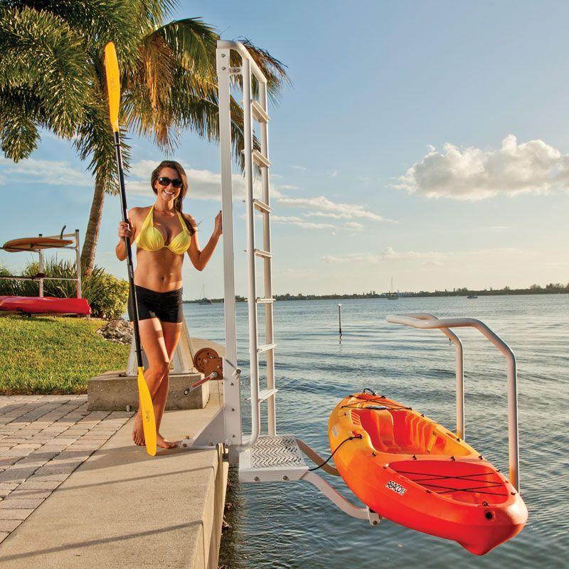 Seawall Mounted Kayak Launch Kayak Ladder Lift Amp Launch