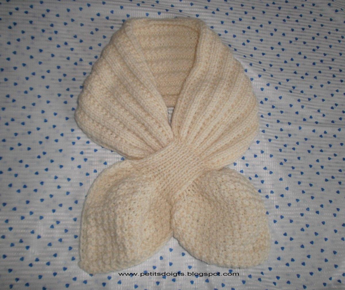 comment tricoter une echarpe feuille   echarpes   Pinterest   Tricot ... 32c3ca6611b