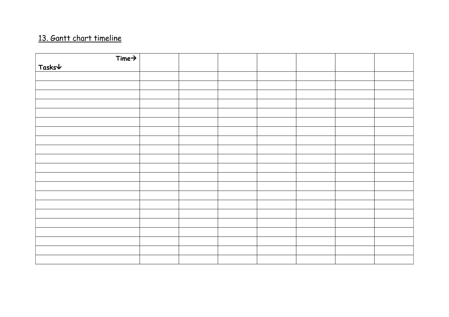 Printable Blank Line Charts