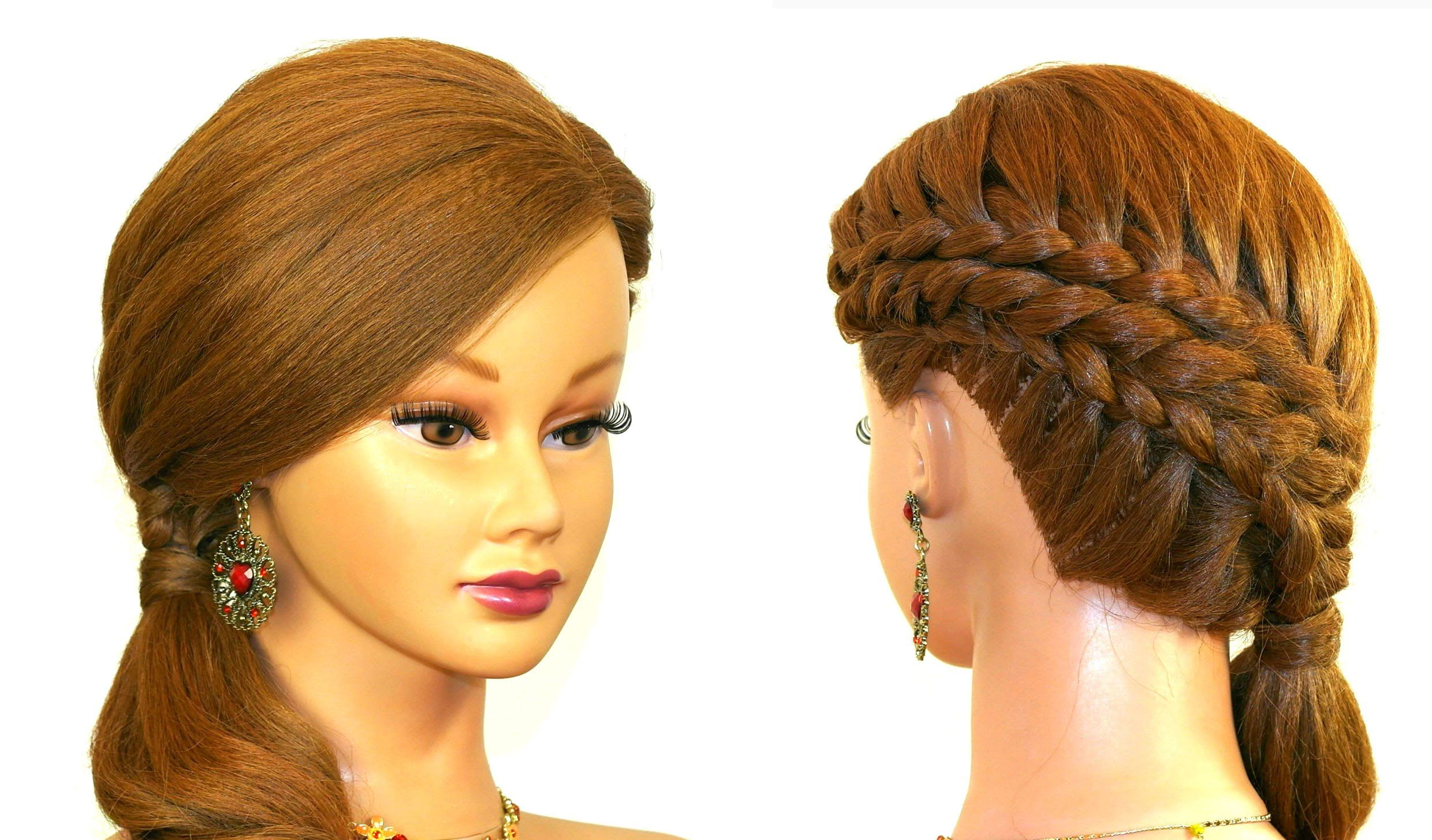 holiday braided hairstyle medium