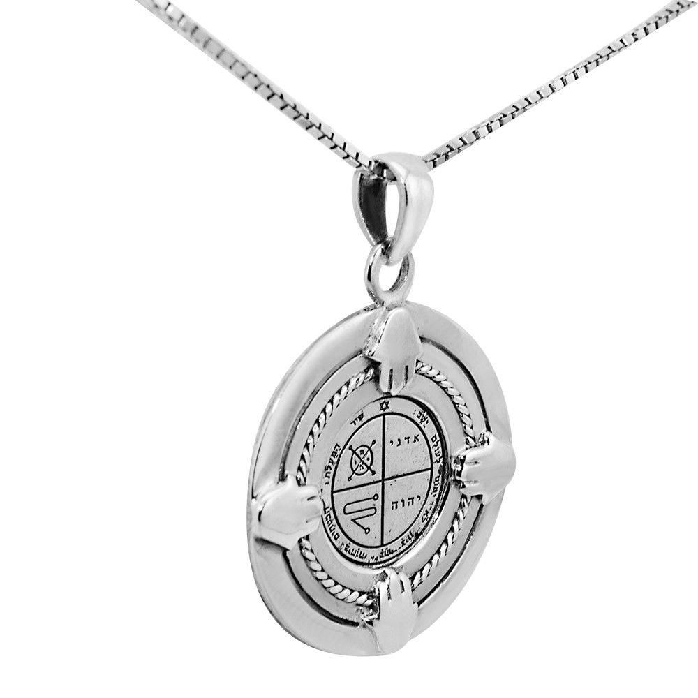 14K Yellow Gold-plated 925 Silver Seal Pendant with 18 Necklace Jewels Obsession Seal Necklace