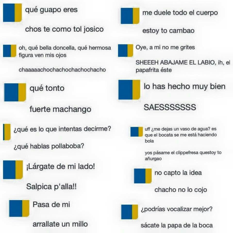 Traduccion de castellano a canarion jeje