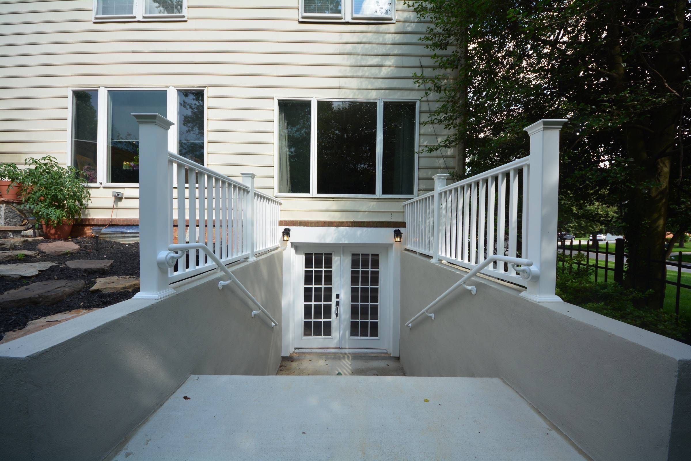 walk outs basement finishing and remodeling in maryland and rh za pinterest com walk up basement access walk up basement pictures