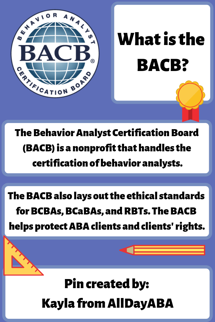 The Behavior Analyst Certification Board Bacb Is An