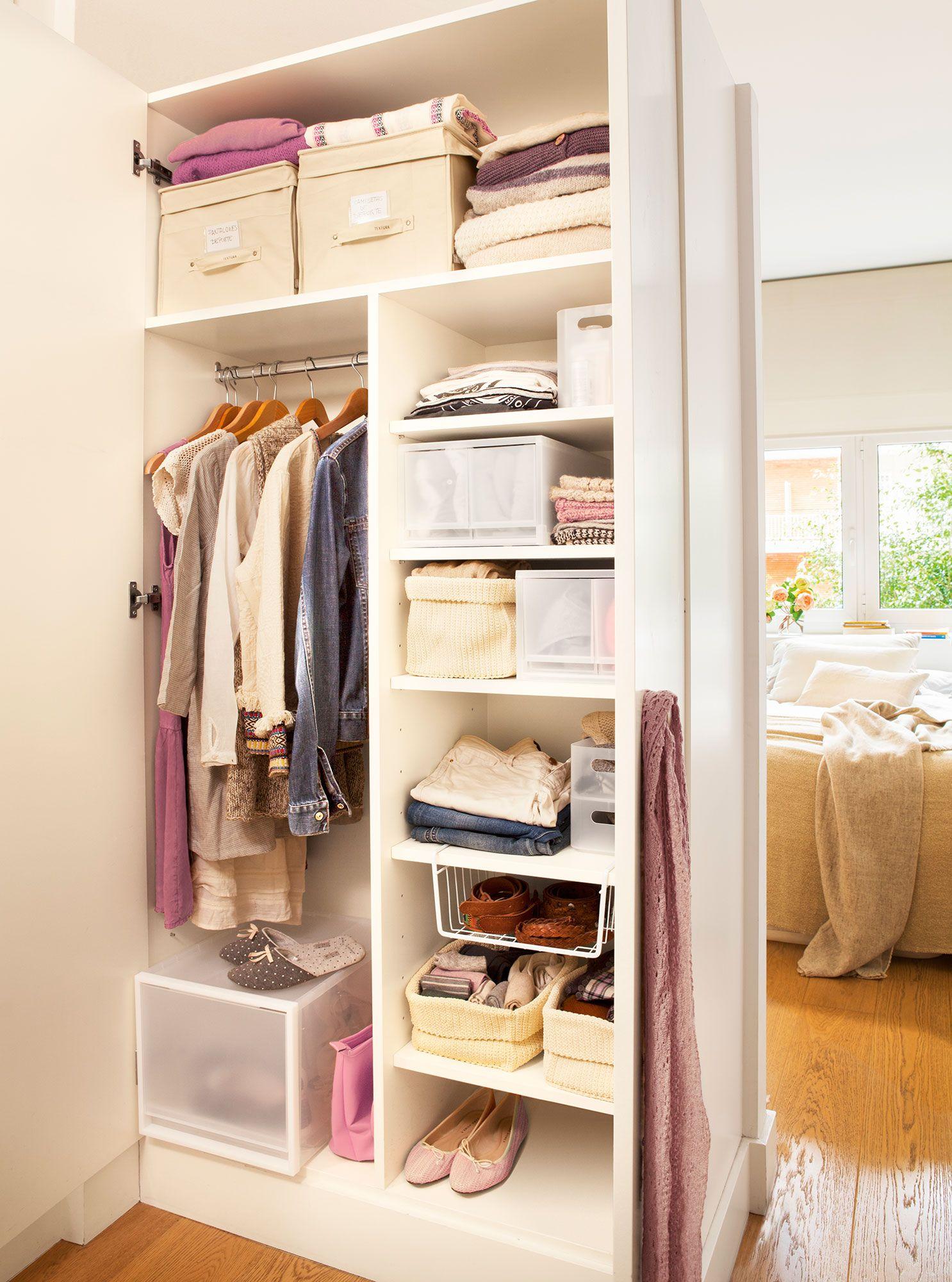 Armario abierto con soluciones para guardar la ropa | Vestidor, Para ...