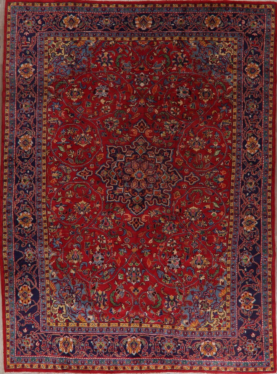 Fl Red Sarouk Persian Area Rug 9x12