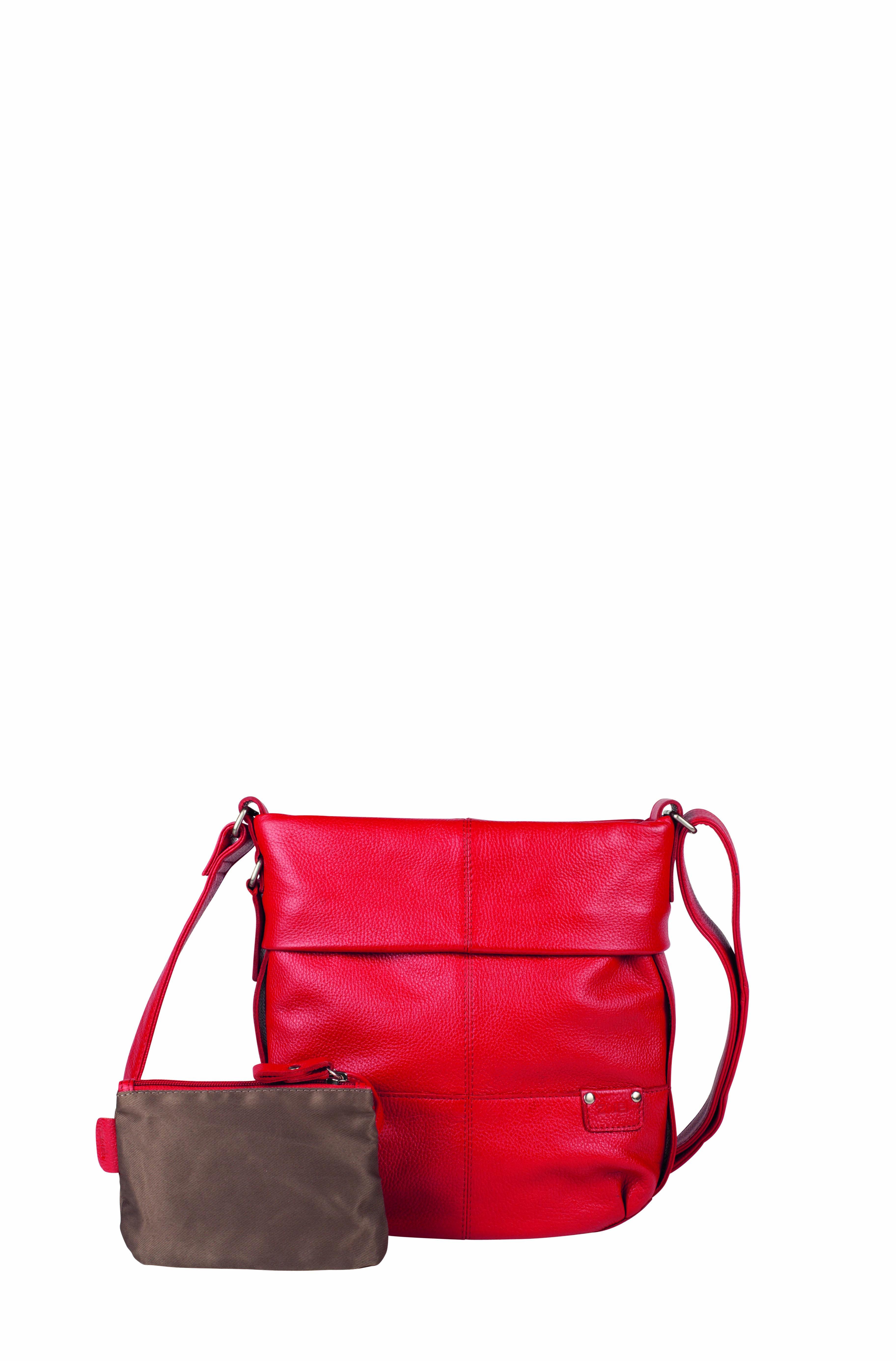 Frauentaschen :: UNICORN :: U10 | ZWEI Taschen Handtasche :: Leder :: rot :: crossbody