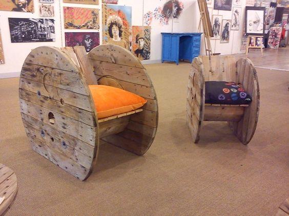 fauteuil touret upcycling projets essayer pinterest correspondant images et garde. Black Bedroom Furniture Sets. Home Design Ideas