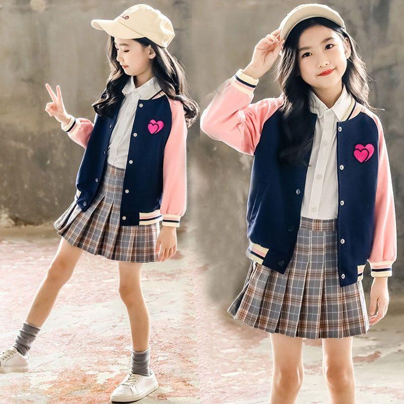 UK 2pcs Kid Girl Rainbow Outfit Set Skirtsuit Top+Skirt Dress Autumn Clothes Set