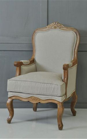 french linen louis armchair complete pad shop arm chairs on