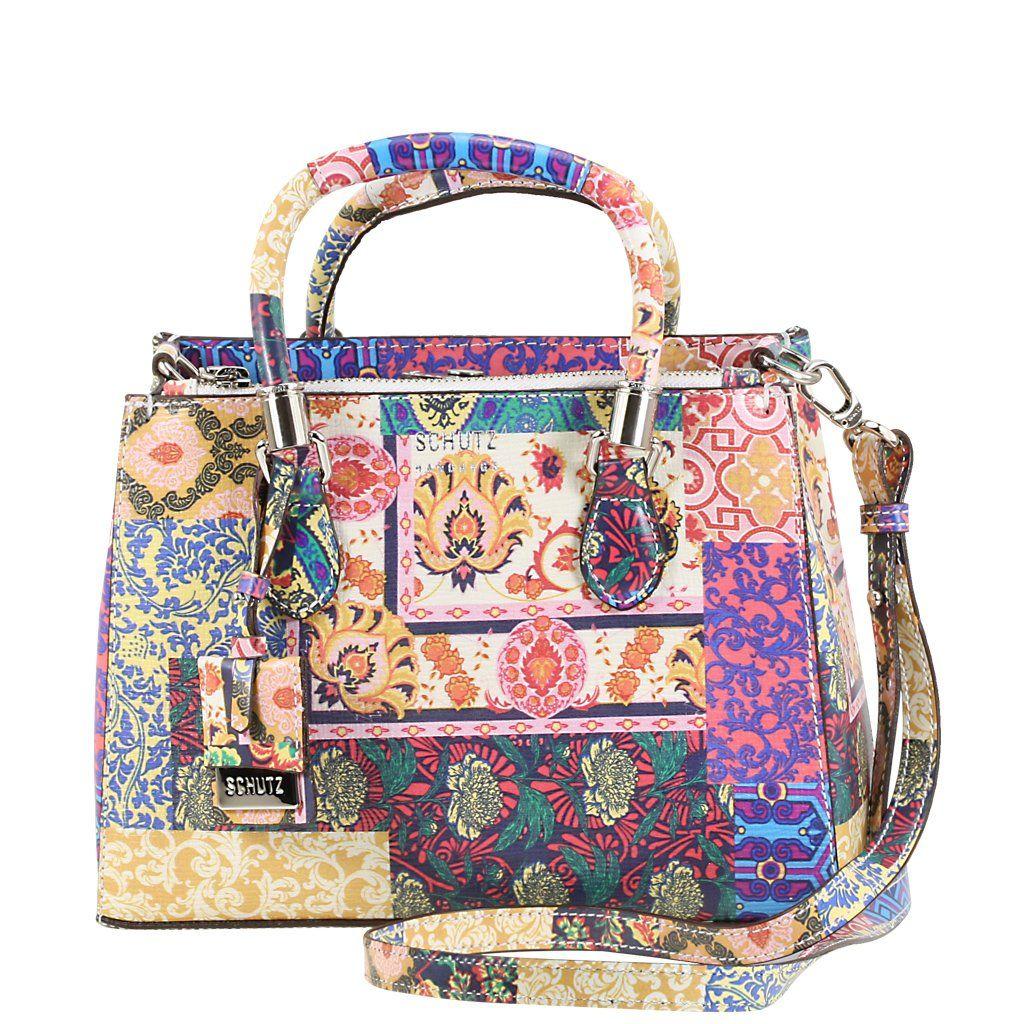 5d03e6e87b913 Acquarelashop - A primeira boutique online de sapatos do Brasil - Bolsa  Média Lorena Schutz Patchwork