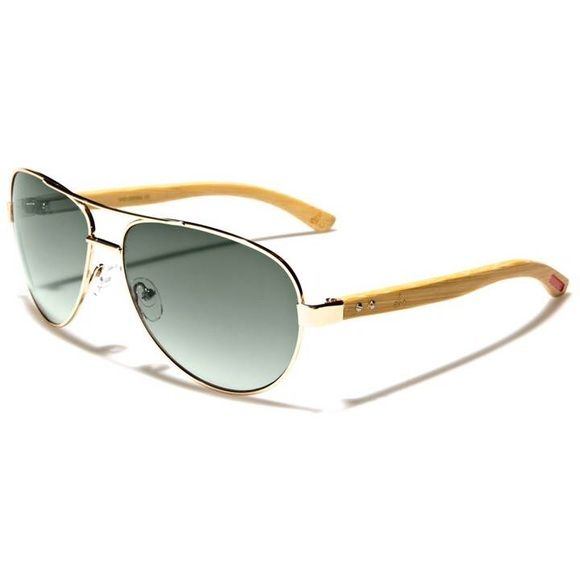 Aviator Sunglasses Chic aviator sunnies with wood and metal frames. Gorgeous! Accessories Sunglasses
