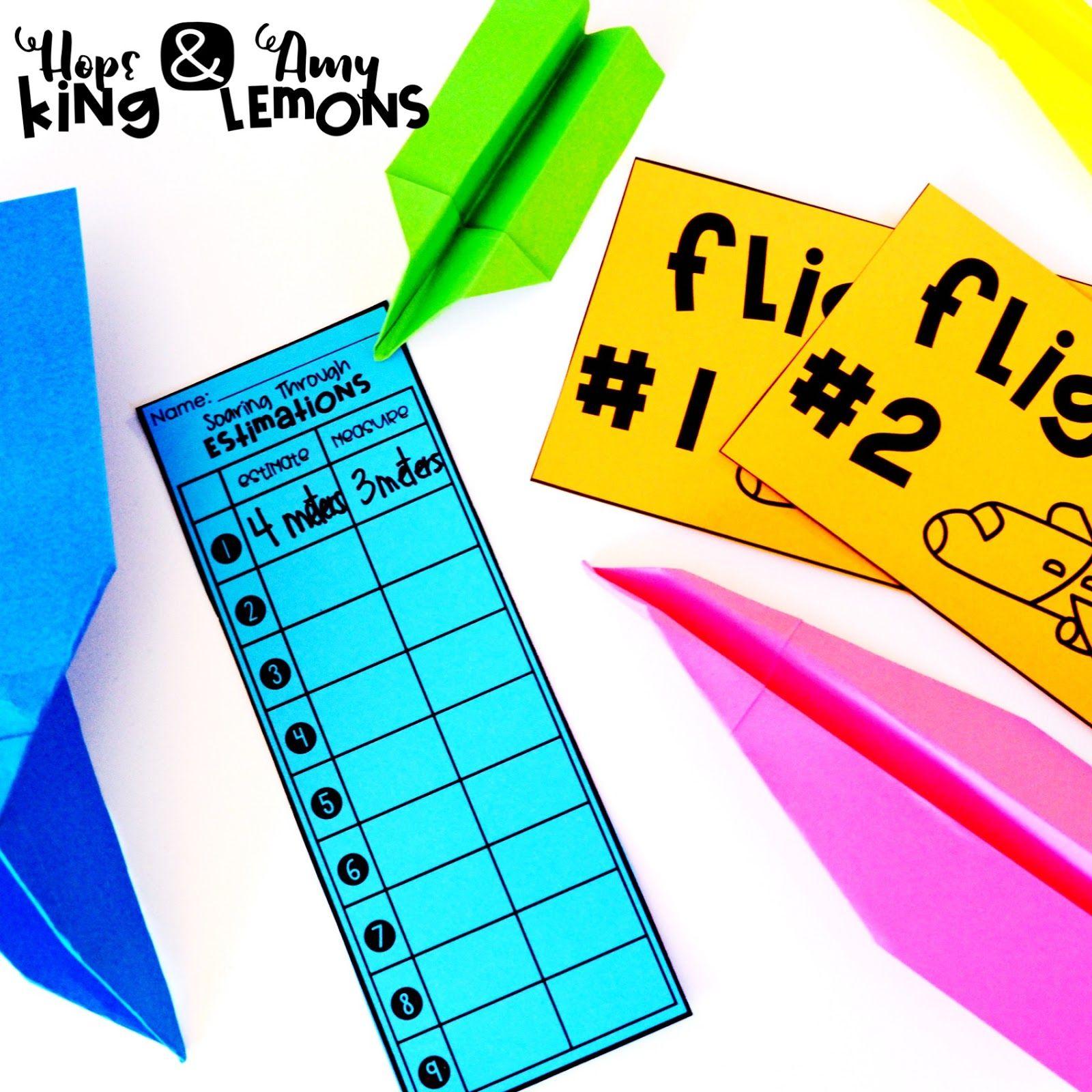 Step into 2nd Grade with Mrs. Lemons Measurement Flight Paper ...