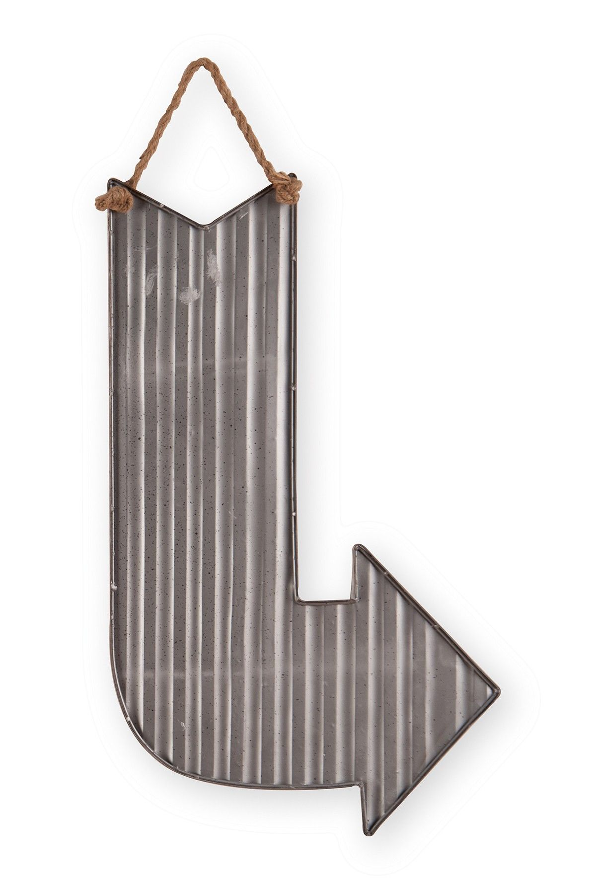 Large corrugated arrow wall art