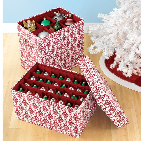 Container Store Ornament Storage Jubilee Ornament Storage Chestpretty & Functional  Organized