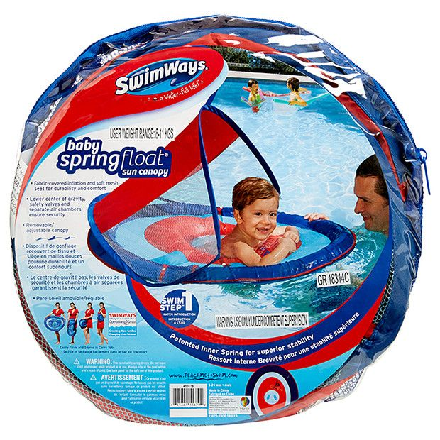 SwimWays Baby Spring Float Sun Canopy - Red  sc 1 st  Pinterest & SwimWays Baby Spring Float Sun Canopy - Red | Canopy and Babies