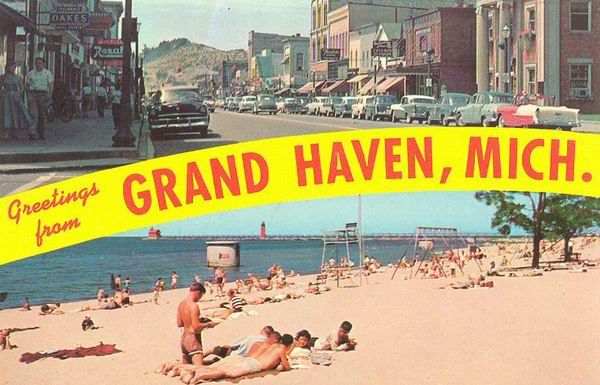 Grand Haven Mi Throwback Michigan Tourism City Beach
