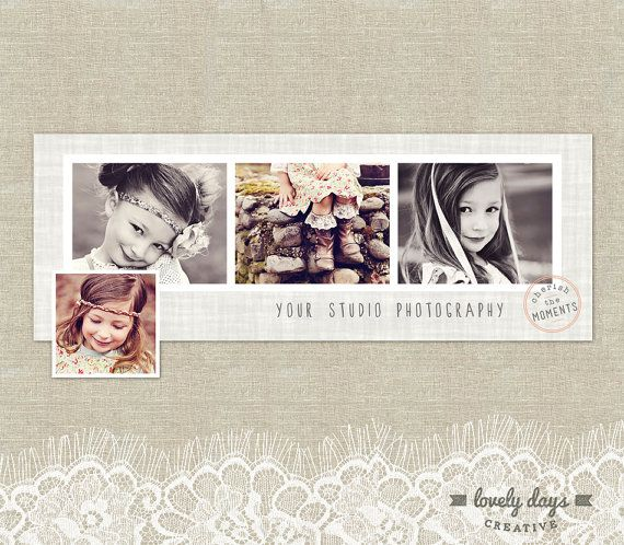 Lovely Days Creative Photography Templates - Set your photography business apart with this stylish timeline design for your Facebook page.