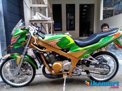 Modifikasi Motor Ninja R Warna Hijau Motorcycle Vehicles