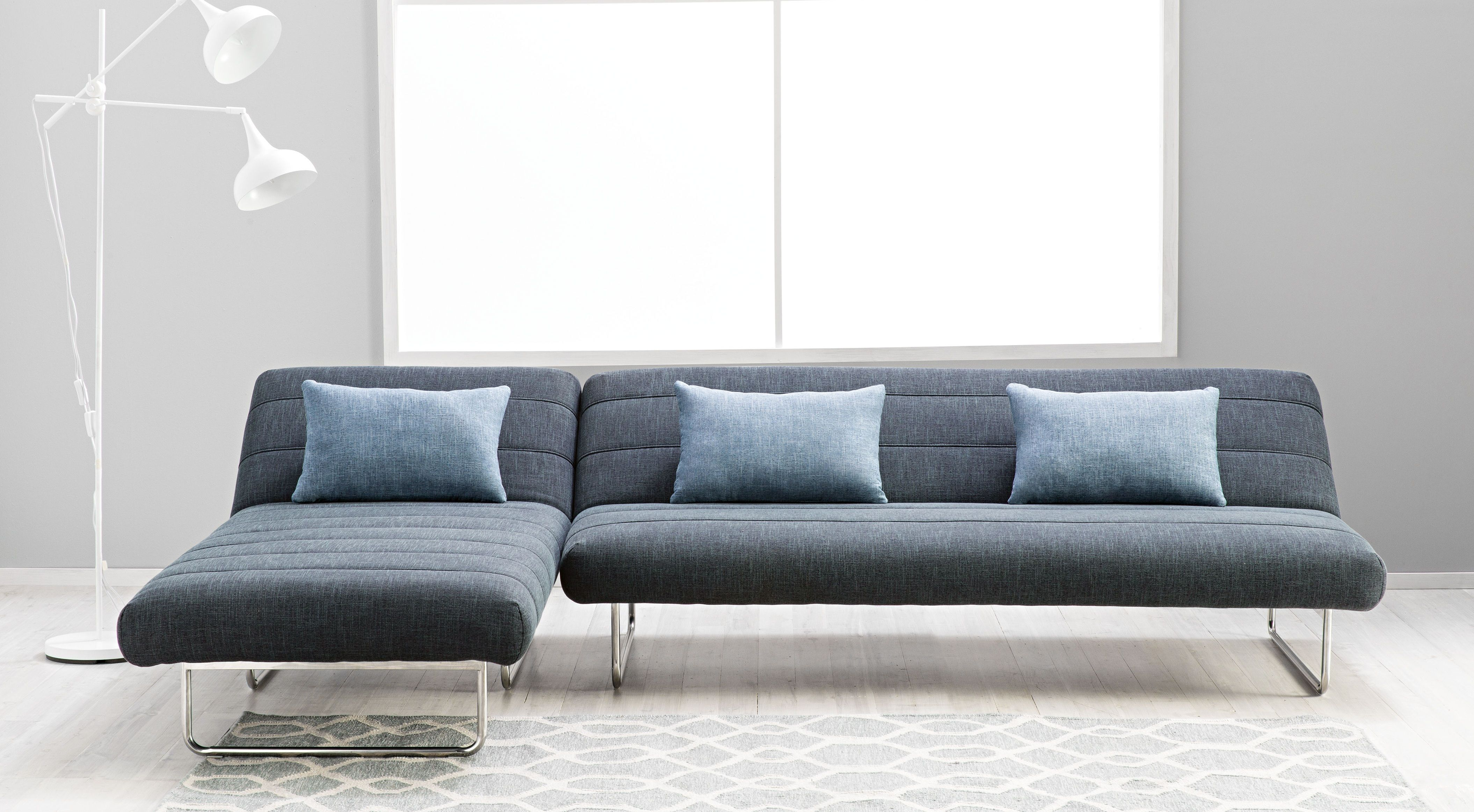 Fantastic Milton Fabric Sofabed With Chaise Domayne Online Store Pabps2019 Chair Design Images Pabps2019Com