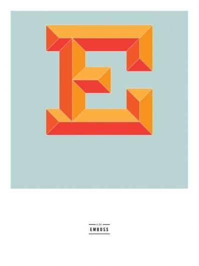 Justafrog  E Is For Emboss  Just Letters    Emboss